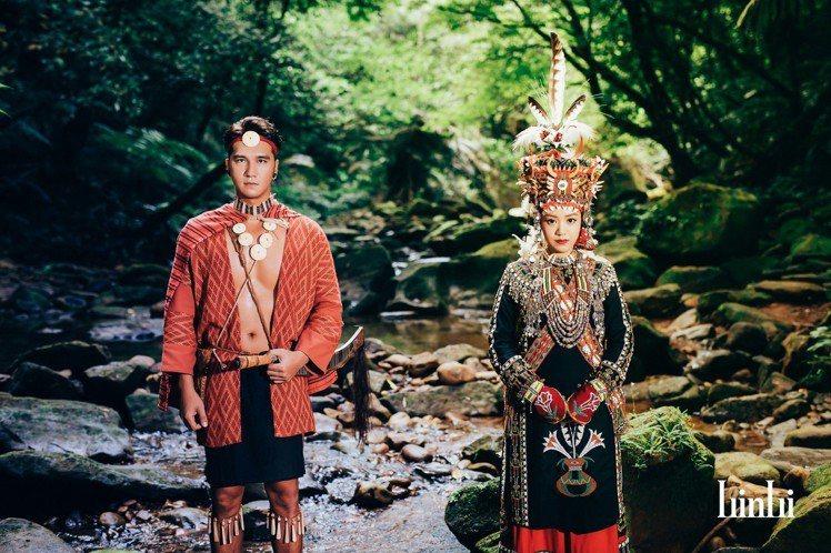 馬志翔與老婆穿上原住民傳統服飾深入山林秘境拍攝婚紗照,搭配上自然景色美如電影劇照...