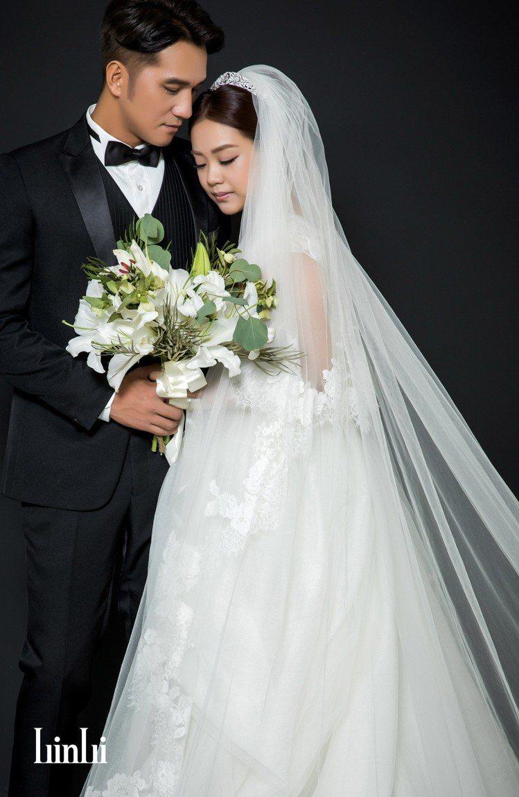 馬志翔與老婆選擇在LinLi Boutique法式沙龍攝影棚拍攝婚照。圖/Lin...