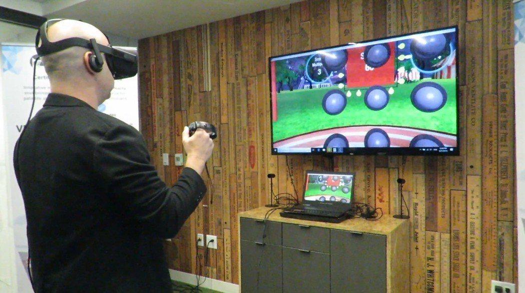 台師大健康促進與衛教系提出用VR促進老人福祉的構想,透過遊戲式引導幫助老人復健,...