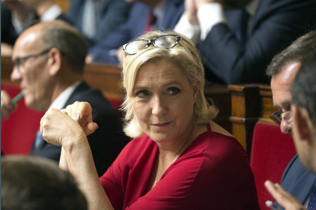 法國極右派民族陣線黨魁雷朋被法院下令接受心理檢查。(美聯社)