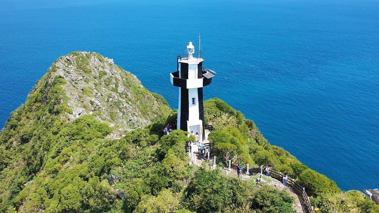 基隆嶼最高點燈塔。圖/基隆市政府提供