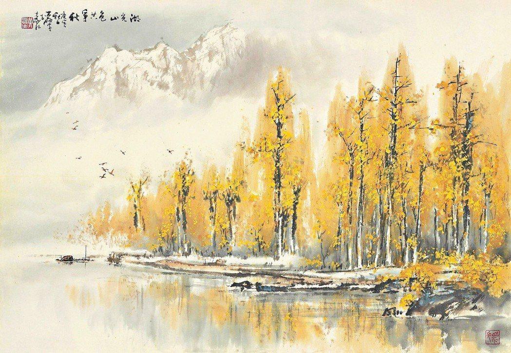 黃磊生作品〈湖光山色〉
