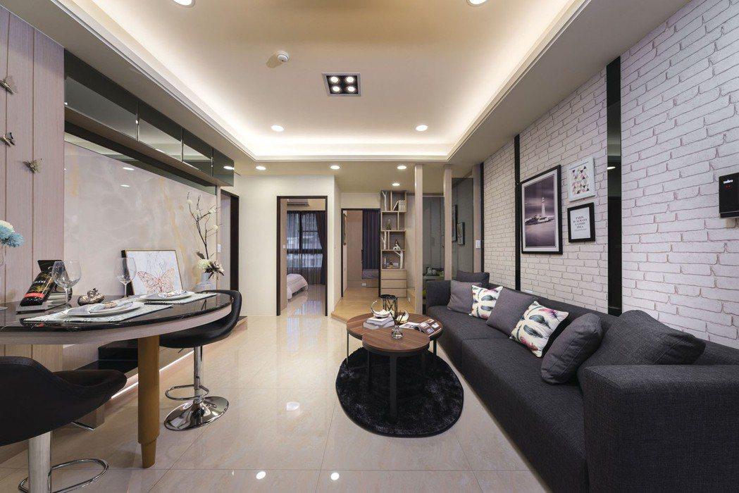 【3.3M卓越樓層高度】,不壓迫,營造風格與機能融合的整體美感! 圖片提供/利富...