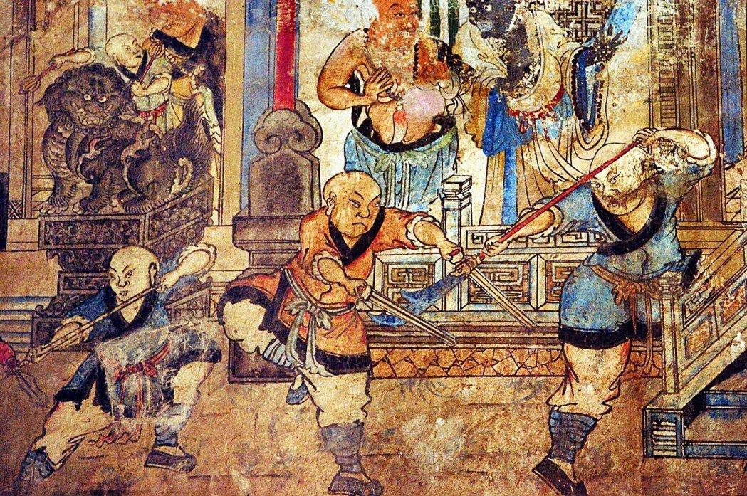 「僧衣之下,凡夫肉身卻破不了紅塵。」 圖/少林寺
