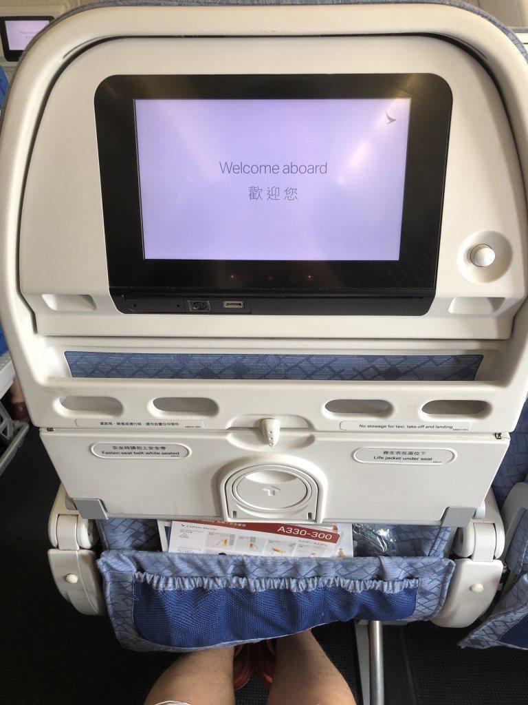 搭國泰航空經濟艙回香港囉! 圖文來自於:TripPlus