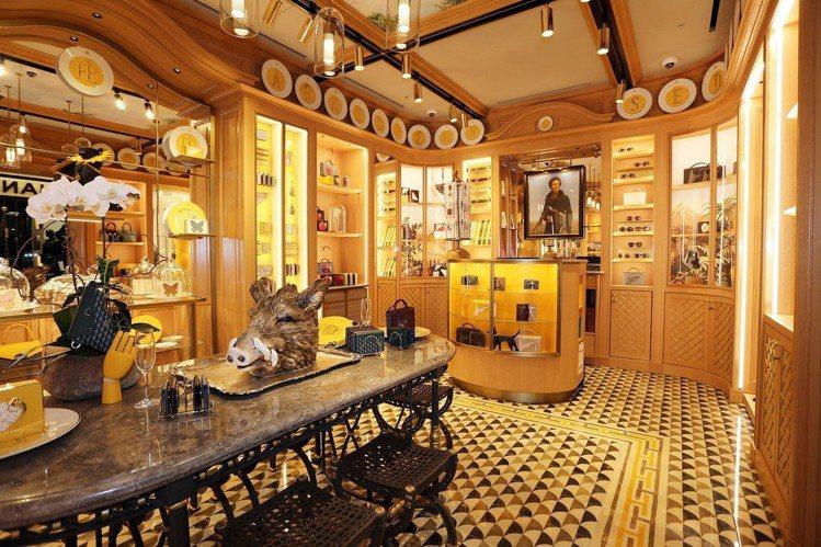 馥瑞樂爵首爾店的陶瓷山豬擺設呼應品牌狩獵精神。圖/FAURÉ LE PAGE提供