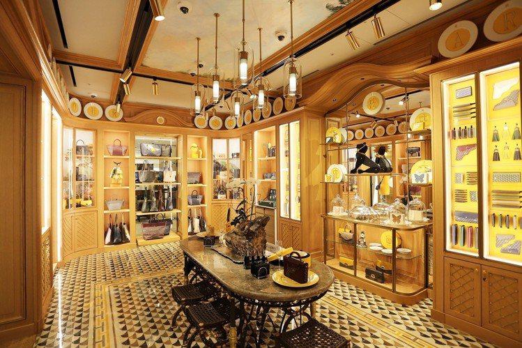 馥瑞樂爵首爾店以法國貴族的餐間做為空間靈感設計。圖/FAURÉ LE PAGE提...