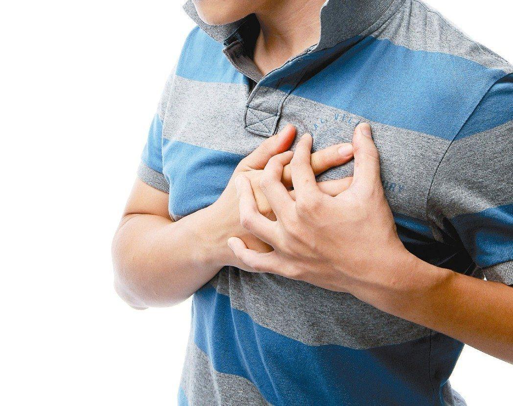 心肌梗塞示意圖。 聯合報系資料照