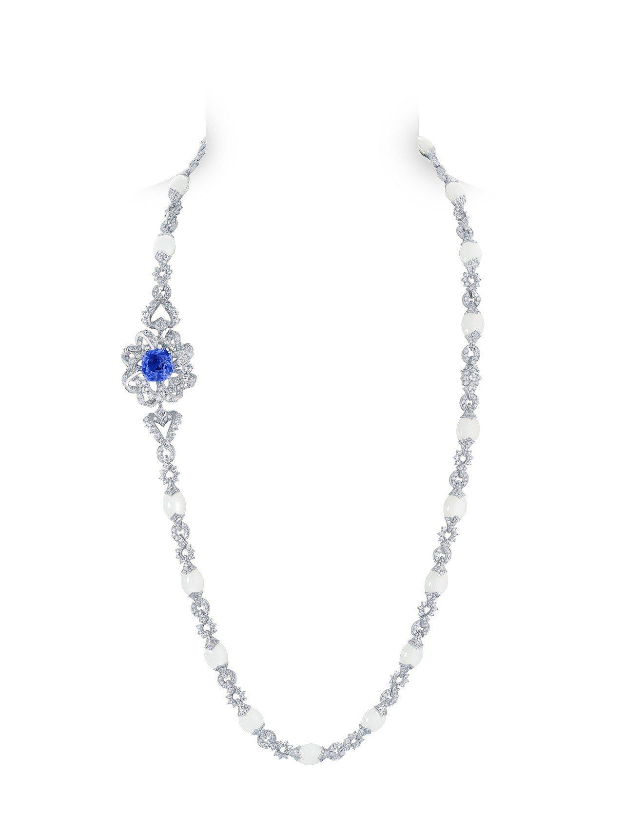 路易威登全新Conquêtes – Regalia頂級珠寶系列藍寶石套組項鍊,...