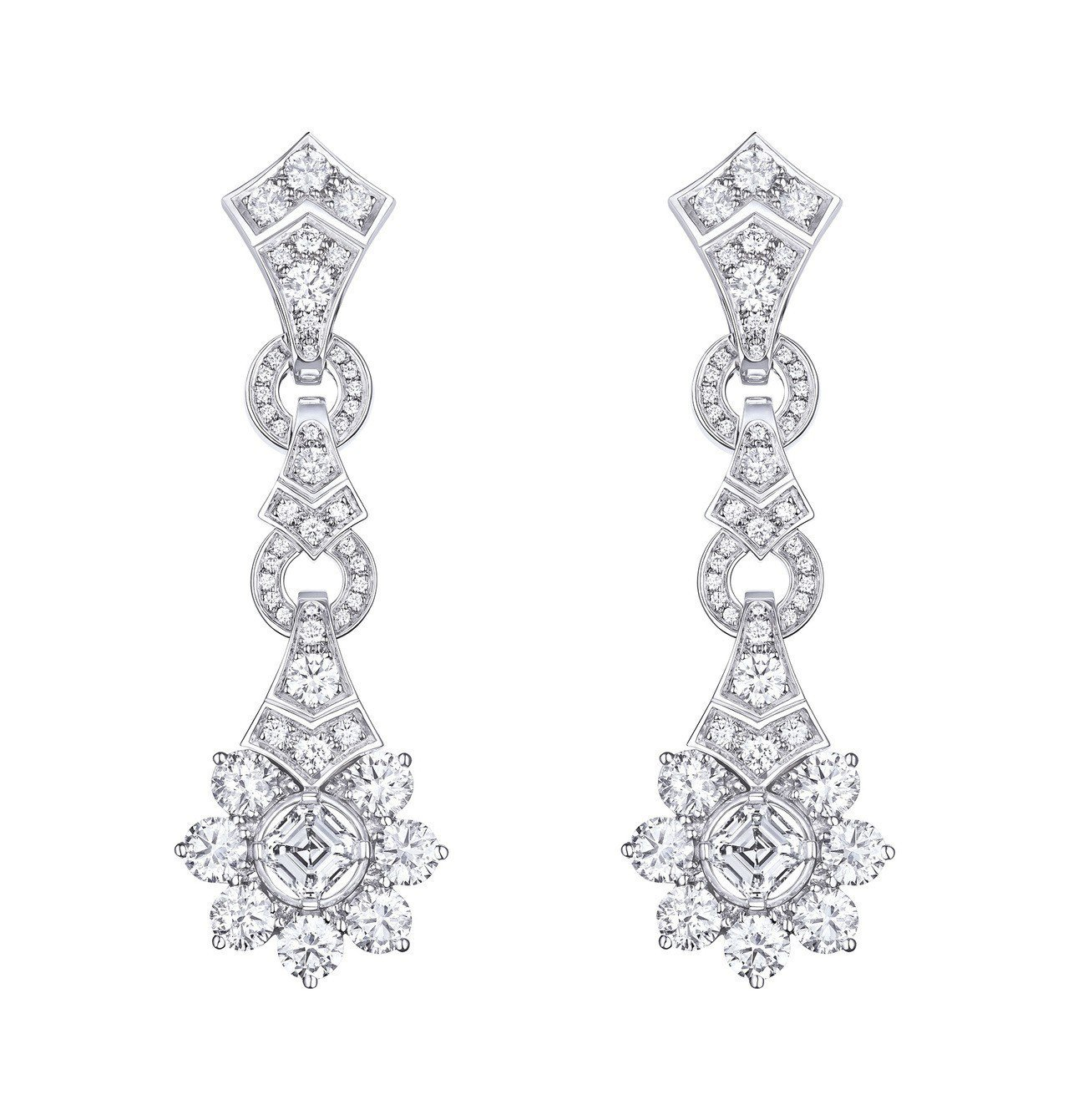 路易威登全新Conquêtes – Regalia頂級珠寶系列藍寶石套組鑽石耳...