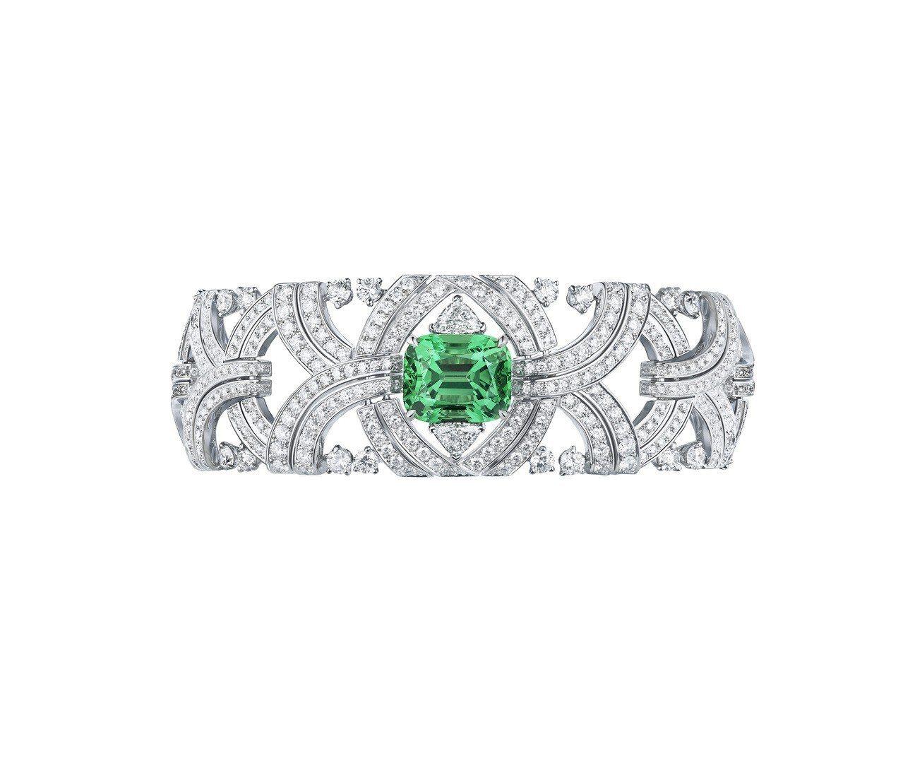 路易威登全新Conquêtes – Regalia頂級珠寶系列薄荷綠沙弗萊石套...