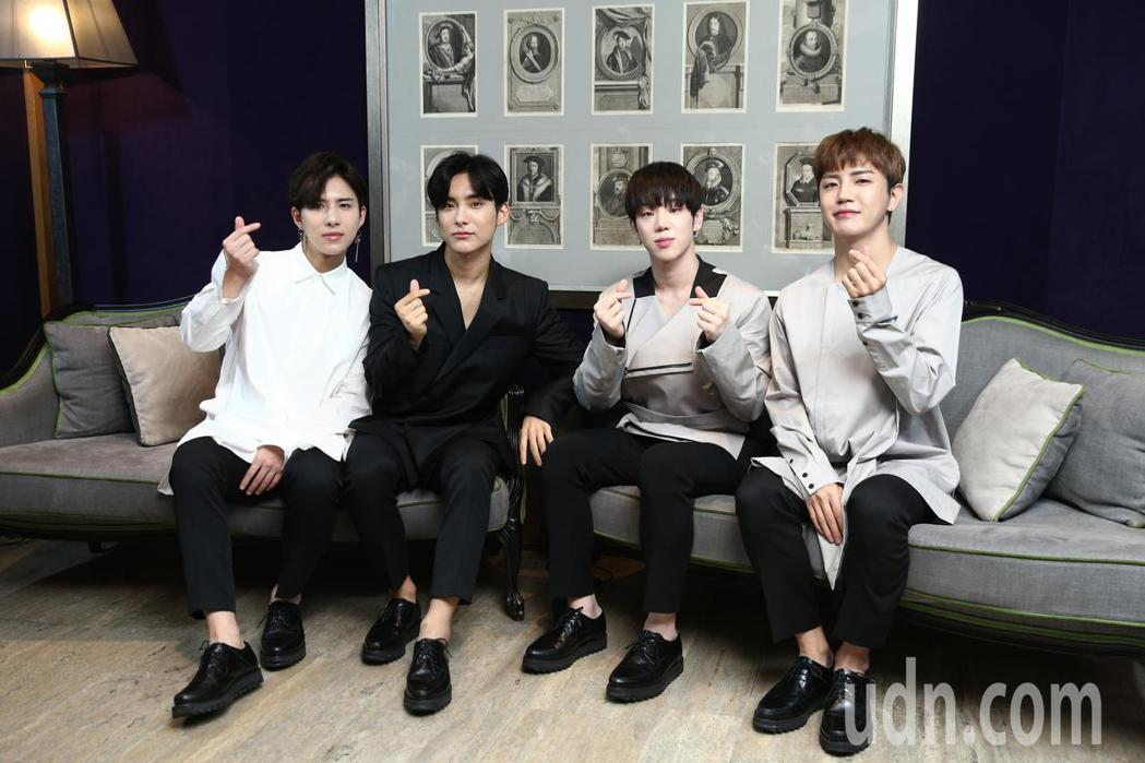 韓國男團A.C.E出道後首次訪台,晚上將參加MTV最強音演唱會,周日也將在台大B