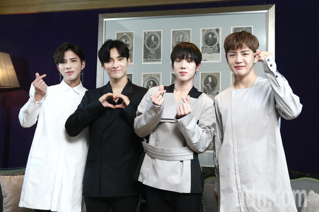 韓國男團A.C.E出道後首次訪台,晚上將參加MTV最強音演唱會,周日也將在台大B...