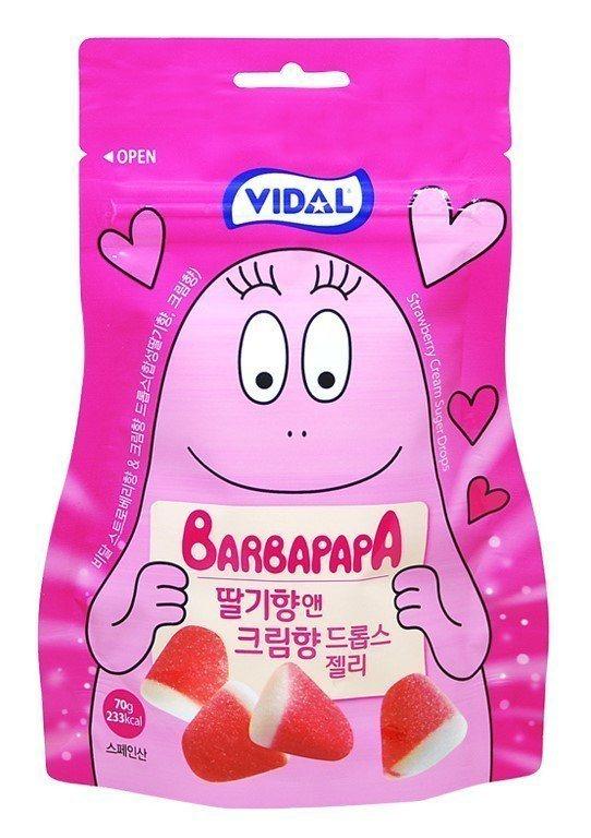 韓國泡泡先生軟糖草莓奶油口味,售價59元。圖/7-ELEVEN提供