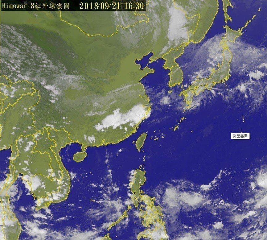 今年第24號颱風潭美最快今天晚上生成。圖/氣象局提供