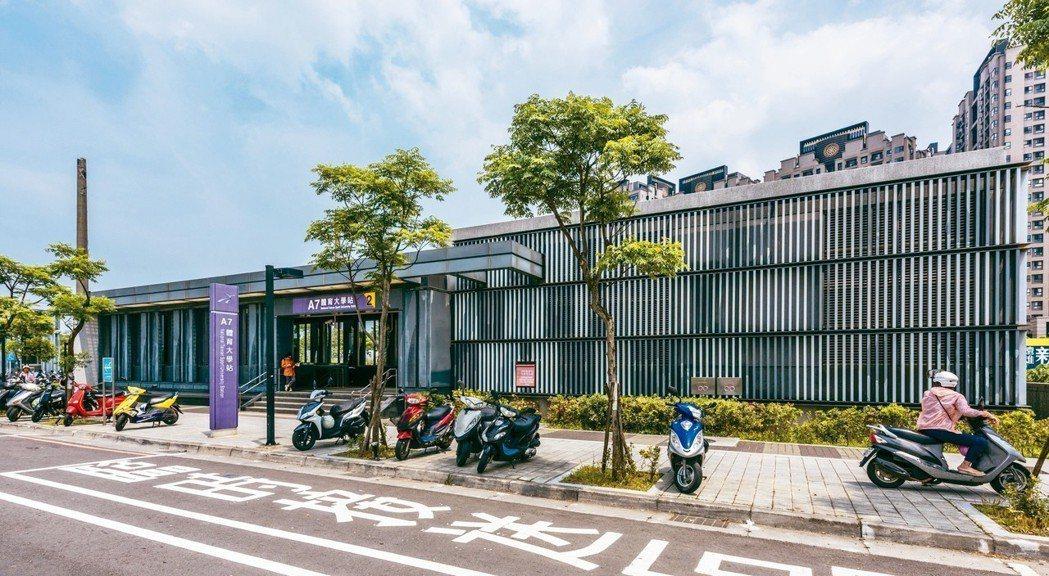 機場捷運A7體育大學站(見圖)有合宜住宅帶動周邊生活機能,未來還會串聯華亞科技園...