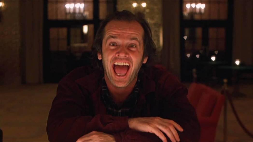 傑克尼柯遜在「鬼店」中飾演逐漸發狂的作家。圖/摘自推特