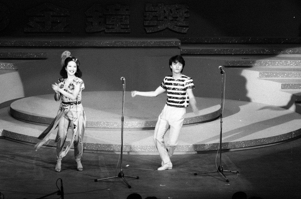 張國榮與薛家燕的勁歌熱舞頗獲好評。圖/報系資料照片