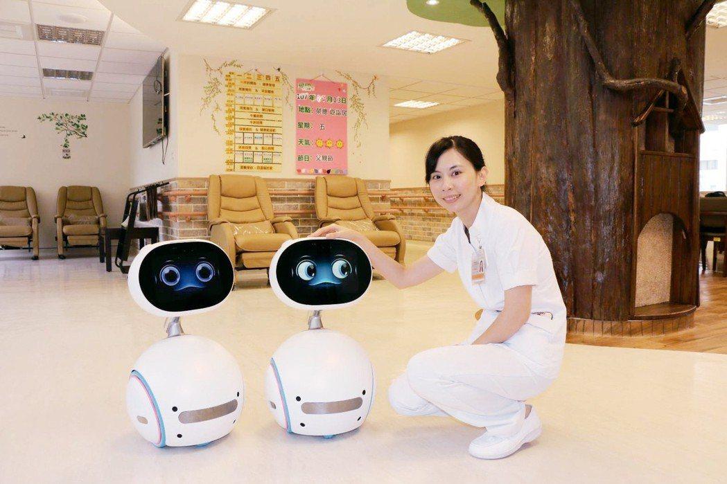 北榮日照中心引進最新的照顧機器人。 圖╱北榮提供