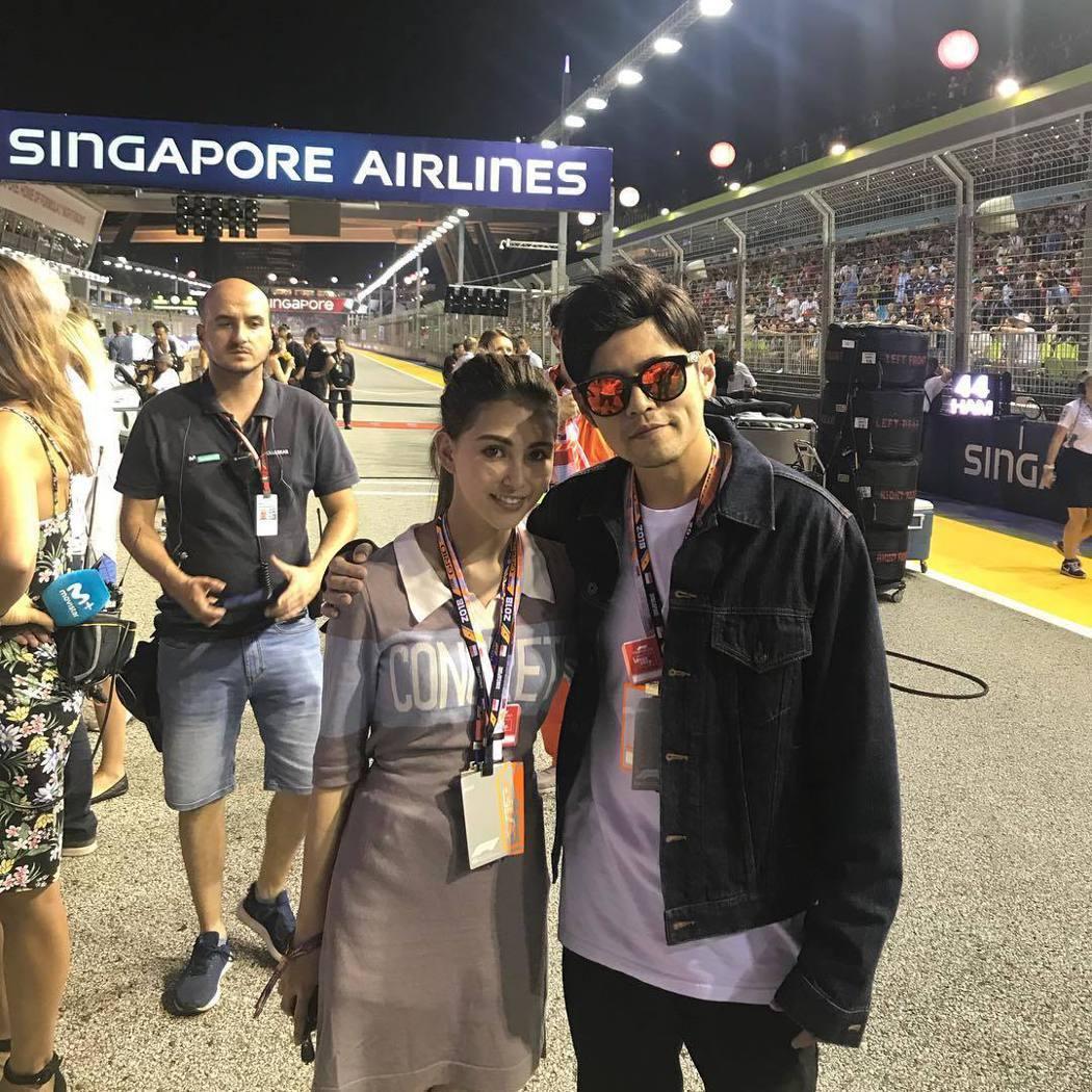 周杰倫(右)跟昆凌結婚4年,很寵老婆。圖/摘自IG