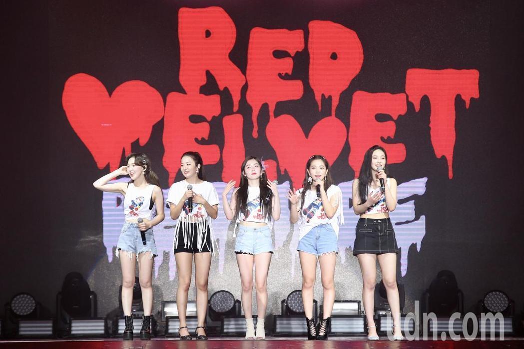 Red Velvet稱讚台灣美食好吃。記者林伯東/攝影