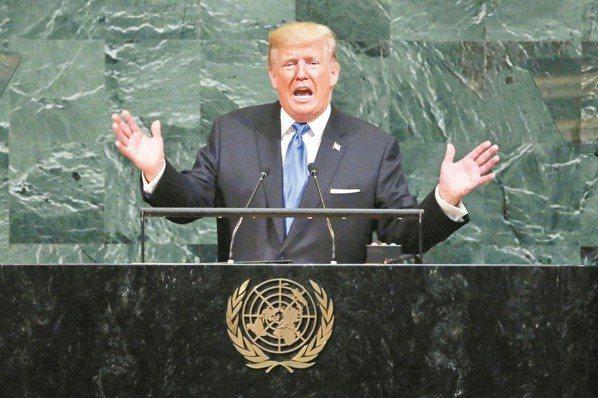 美國總統川普。 美聯社