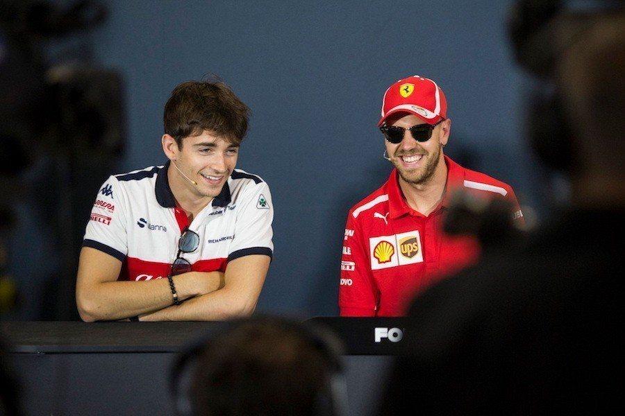 Sebastian Vettel與Charles Leclerc下賽季將成為隊友。 FIA提供