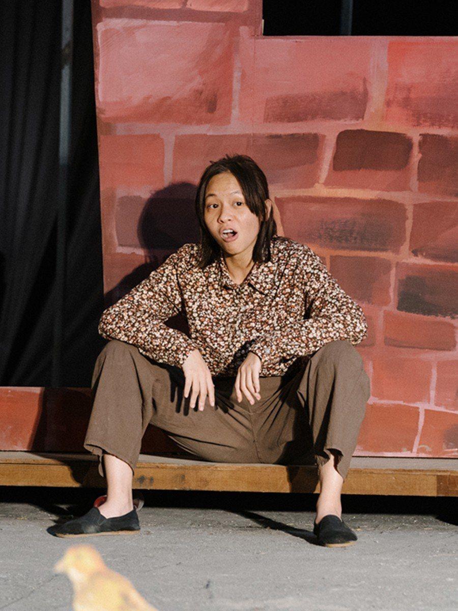 黃姵嘉在「台北歌手」中拋開形象演粗鄙農婦。圖/客台提供