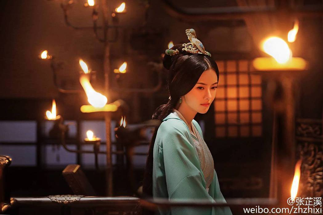 張芷溪在「軍師聯盟」中飾演甄宓一角。圖/摘自微博