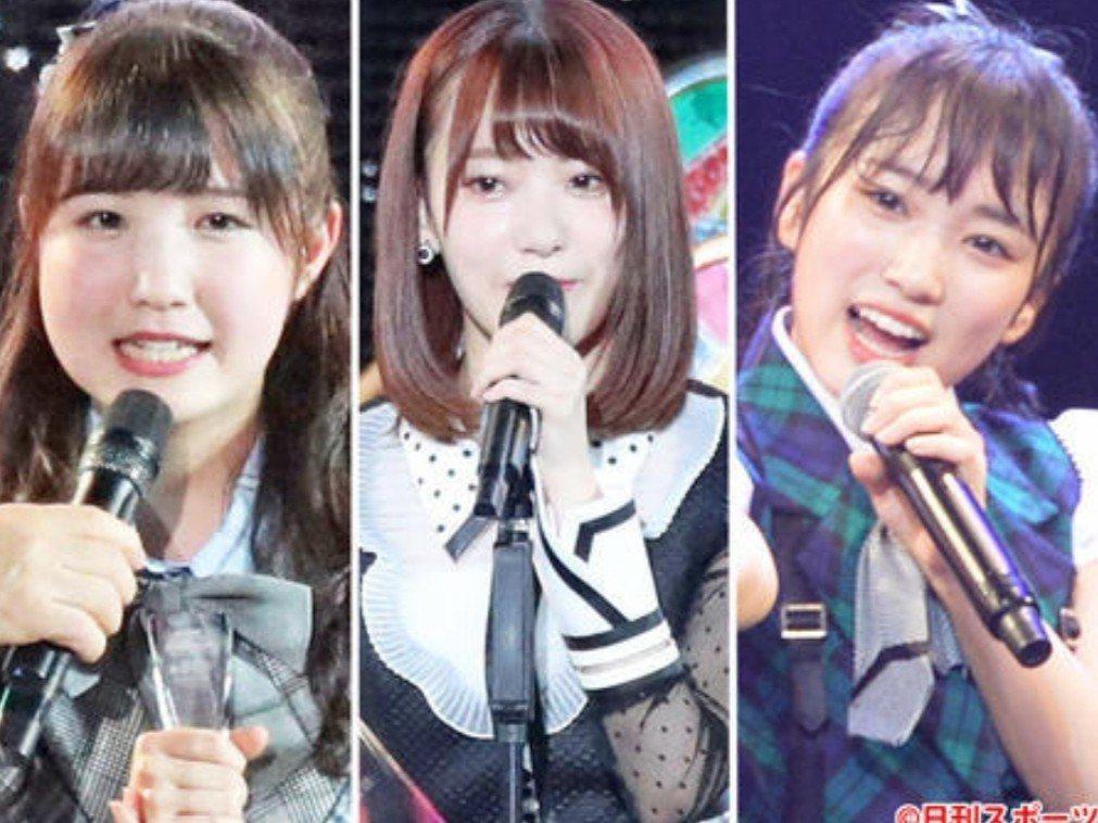 本田仁美(左起)、宮脇咲良、矢吹奈子將暫停本團活動。圖/摘自日刊體育