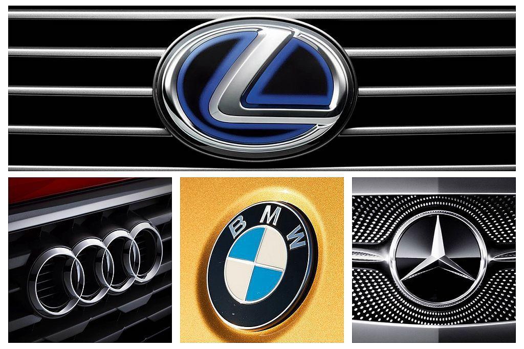 《J.D. Power》公布今年度台灣豪華車廠顧客滿意度調查報告,驚人的是德系三大豪華汽車品牌,全都輸給日系豪華車廠Lexus。 圖/各車廠提供