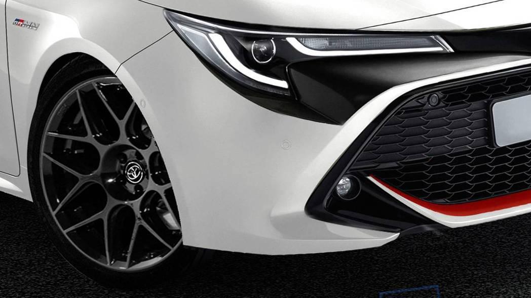 Motor1替Corolla GR更換較運動化的輪圈。 摘自Motor1