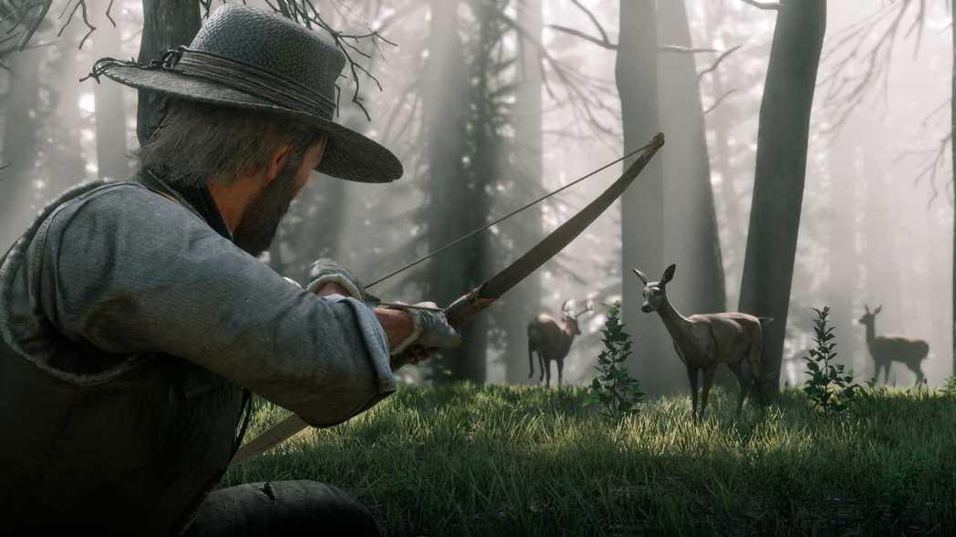《碧血狂殺2》中的打獵要素自由及擬真度都相當高。