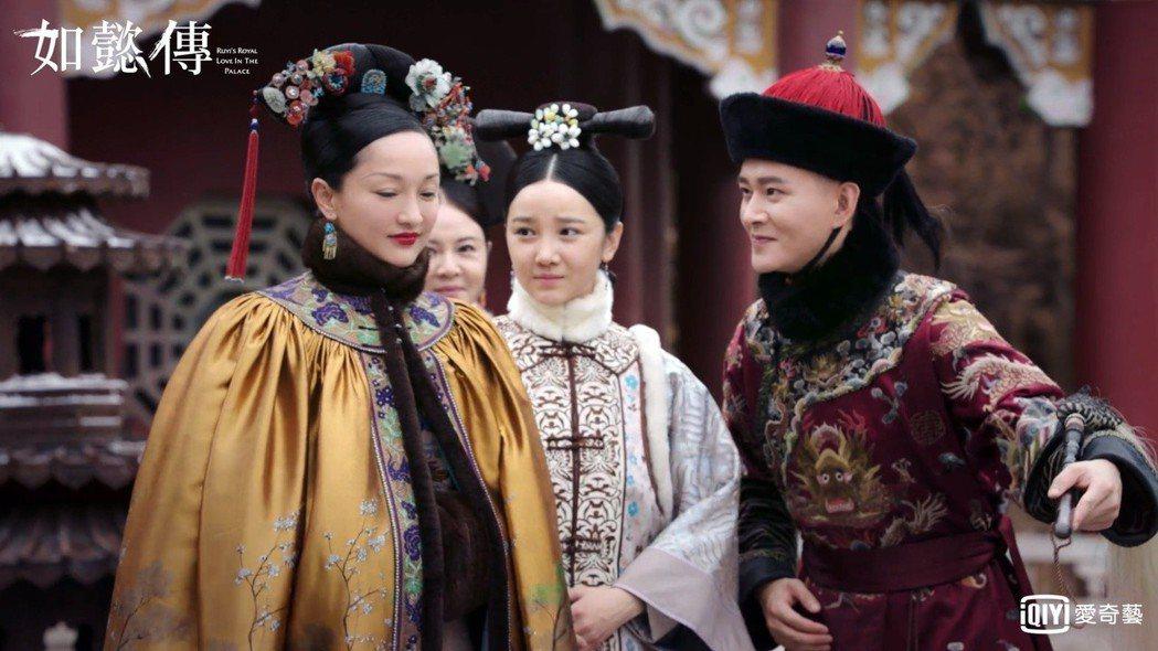 黃宥明(右)與周迅(左)在「如懿傳」中有許多對手戲。圖/愛奇藝台灣站提供