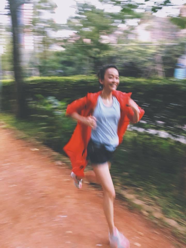 陳意涵熱愛運動,每天固定跑步,已經維持6年。圖/摘自臉書