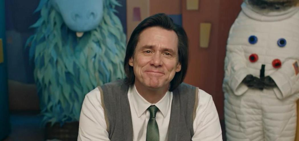 金凱瑞是「酸黃瓜先生的人生笑話」靈魂人物戲分最重的靈魂人物。圖/摘自imdb