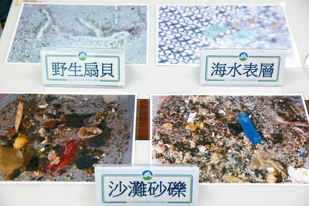 環保署首度公布生活環境中的微型塑膠調查,發現包括海水、沙灘、野生和養殖貝類,甚至...