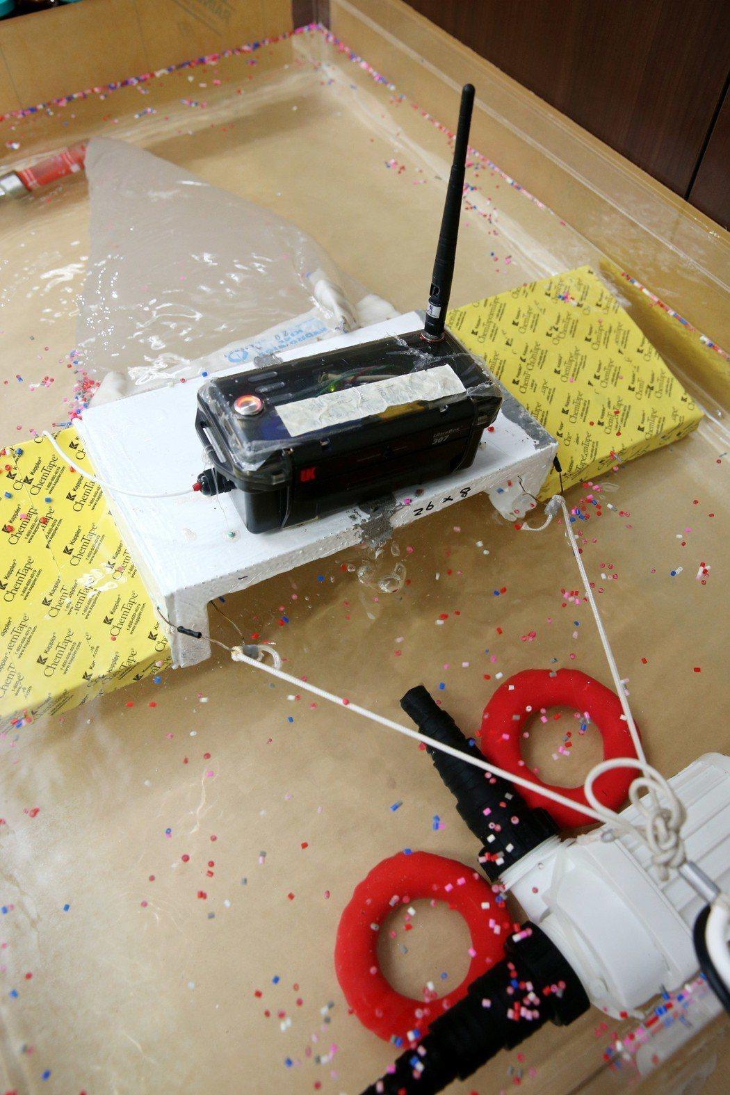環保署展示鱝型採樣器。記者邱德祥/攝影