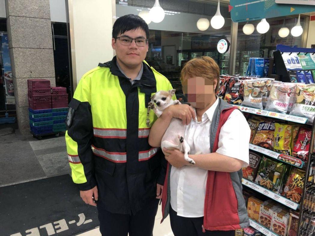 民眾報案寵物小狗在菜市場走失,員警花了4天時間,幫她找回愛犬。圖/警方提供