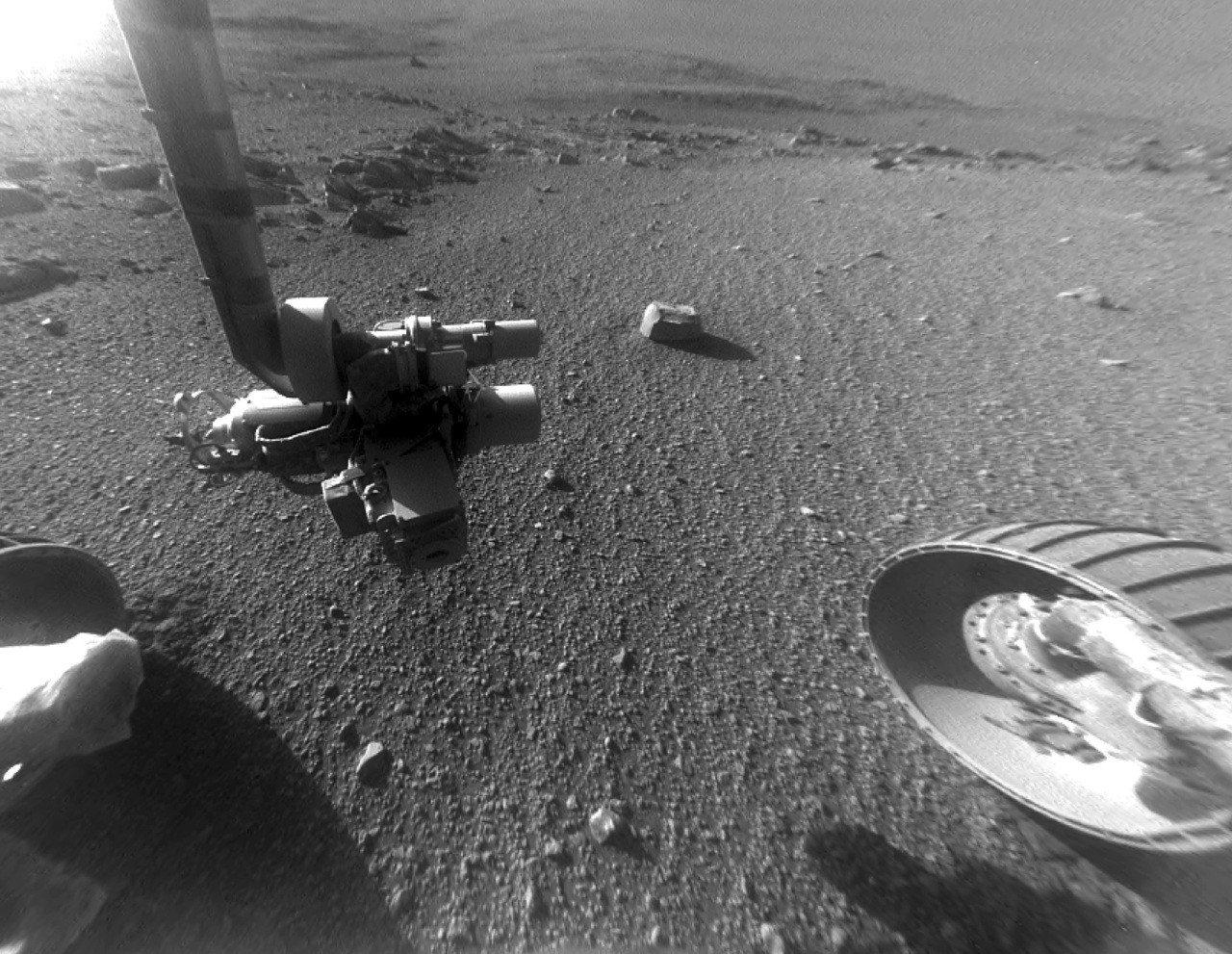 機會號利用地質探測工具,證明火星上曾經有水的證據。 美聯社