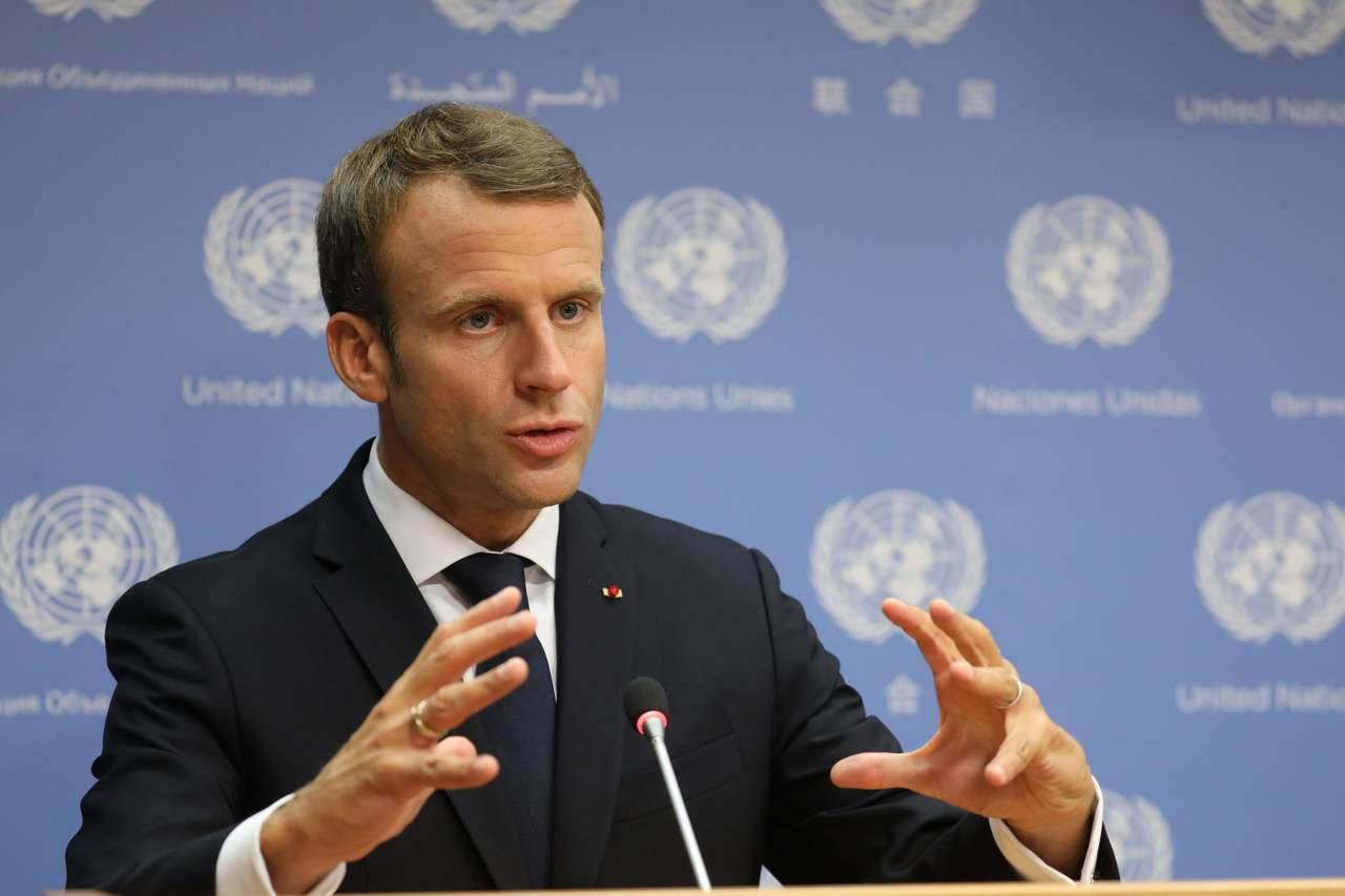 法國總統馬克宏(Emmanuel Macron)。 法新社