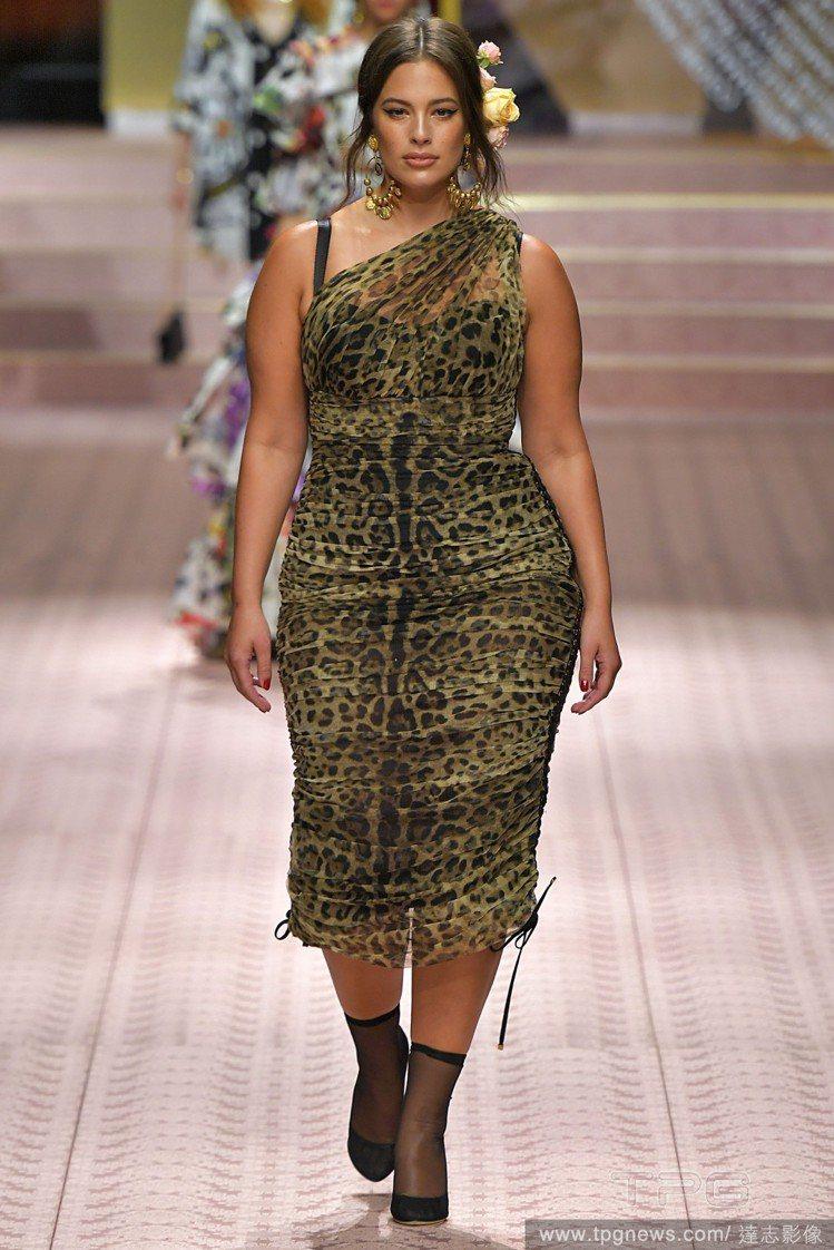 知名的大尺碼模特兒Ashley Graham。圖/達志影像