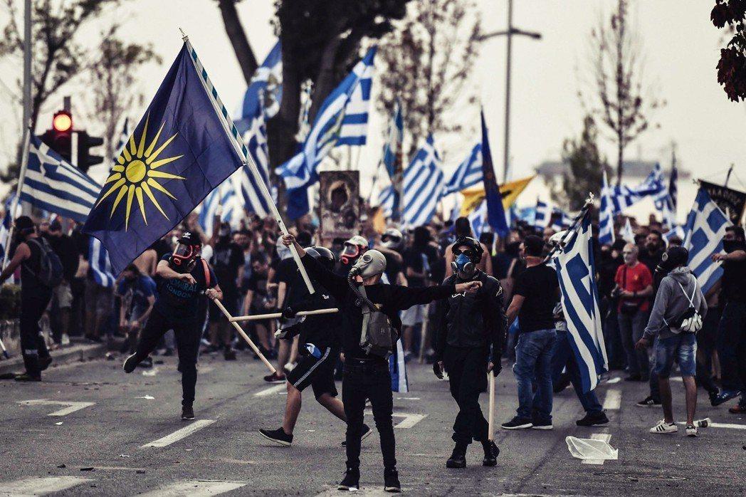 「馬其頓」這個名稱,屬於誰?圖為2018年9月9日,希臘「馬其頓大區」的塞薩洛尼...
