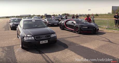 影/Bugatti Chiron會輸給1,300馬力的Audi S4嗎?