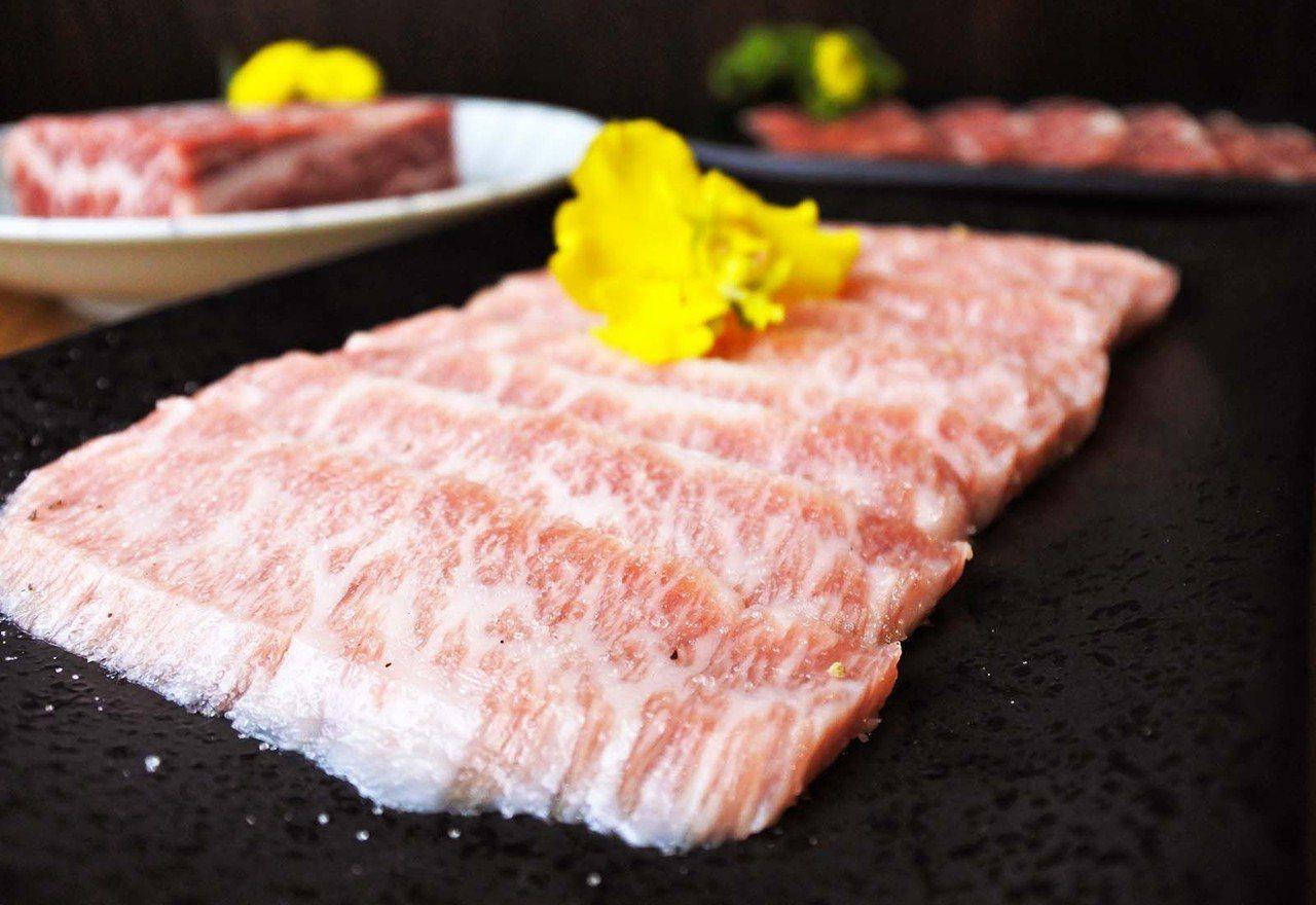 (圖/台灣旅行趣) ▲松阪豬選用伊比利豬,以厚切的方式處理,比起一般黑毛豬更有嚼...