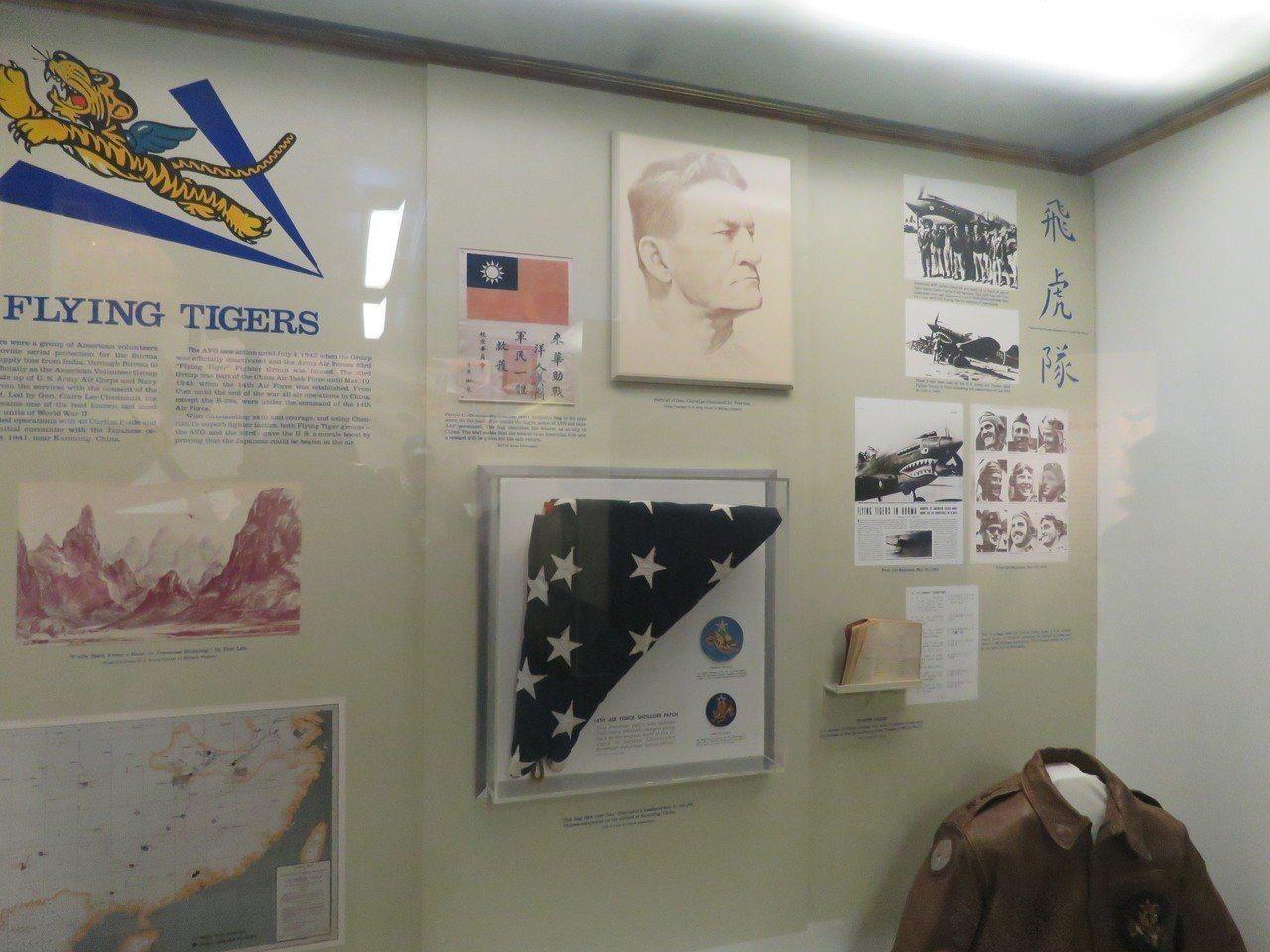 美國華府航太博物館內飛虎隊展品。華盛頓記者張加/攝影