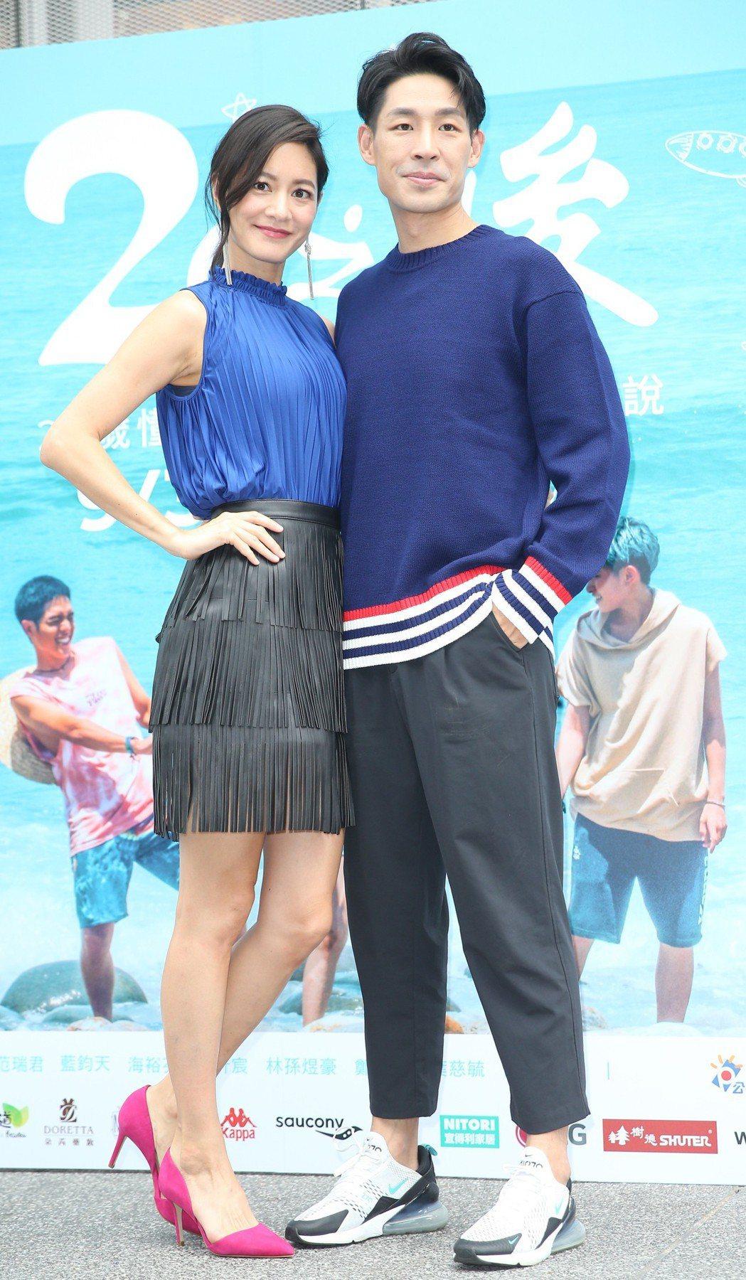 公視新戲《20之後》即將上映,Janet(謝怡芬)(左)與藍鈞天(右)演出。記者...