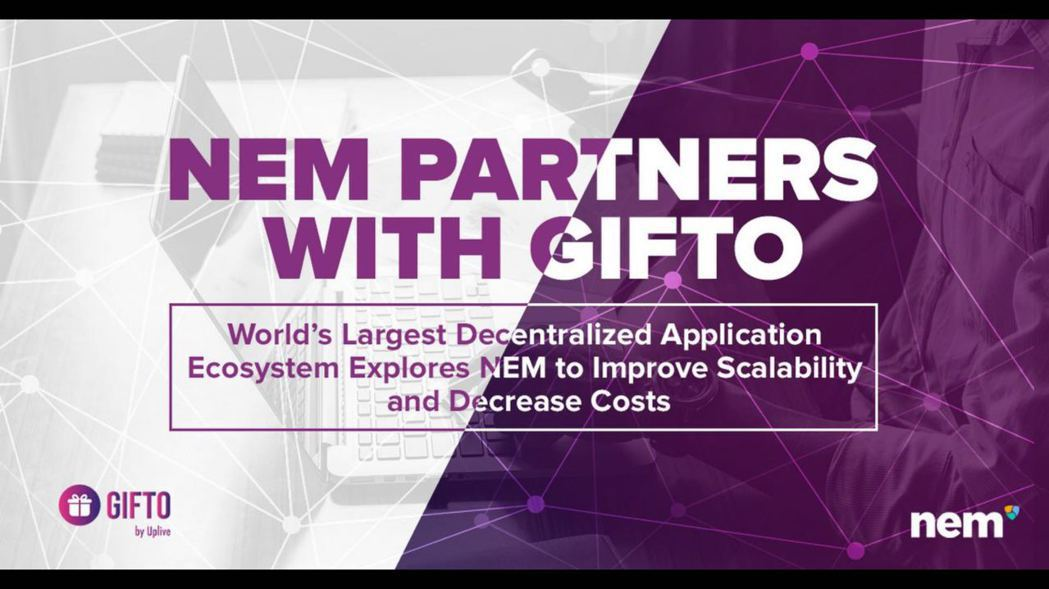 GIFTO與NEM正式宣布進行深度合作。 GIFTO/提供