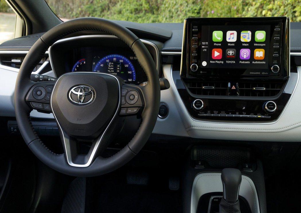 Toyota車款已經支援Apple Car Play。 摘自Toyota