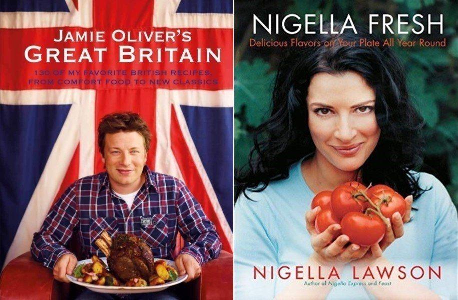 食譜,該不該算是一種「美食黃色書刊」呢?圖左、右分別為英國名廚傑米奧利佛,以及有...